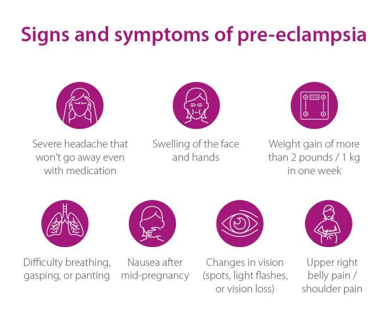 Símptomes preeclàmpsia